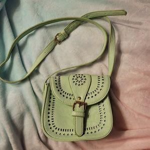 Charming Charlie brand mini light green purse
